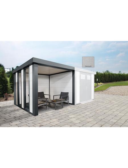 WOLFF FINNHAUS Loungeanbau »Eleganto Lounge + 2 Fenster L Dekorputz«