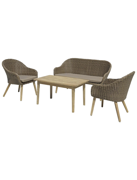 GARDEN PLEASURE Loungemöbel-Gruppe, 4 Sitzplätze
