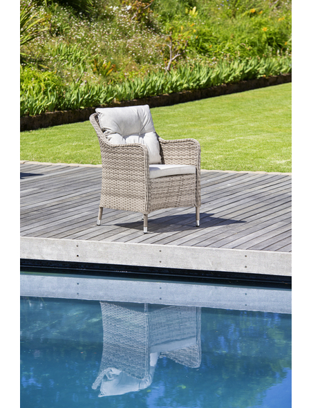 CASAYA Loungesessel »Nalepa«, BxHxT: 70 x 57 x 70 cm, Aluminium/Kunststoffgeflecht/Polyester