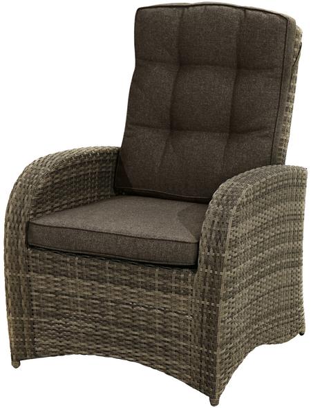 ploß® Loungesessel »Rabida Comfort«, BxTxH: 73  x 85  x 112  cm, Polyester/ Aluminium/ Polyrattan