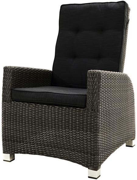 ploß® Loungesessel »Rocking Comfort«, BxTxH: 73  x 85  x 112  cm, Polyester/ Aluminium/ Polyrattan
