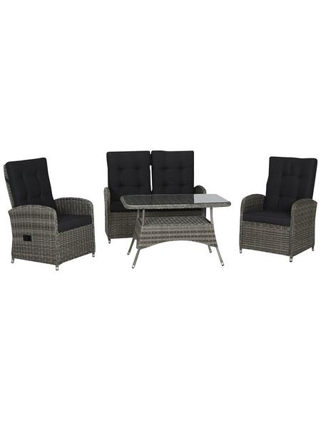 CASAYA Loungeset »Lamela «, 4 Sitzplätze, inkl. Auflagen