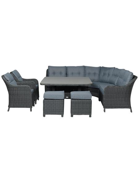 GARDEN IMPRESSIONS Loungeset »Milwaukee XL«, 9 Sitzplätze, inkl. Auflagen