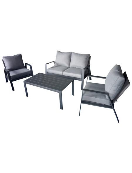 GARDEN PLEASURE Loungeset »Victoria«, 4 Sitzplätze, inkl. Auflagen
