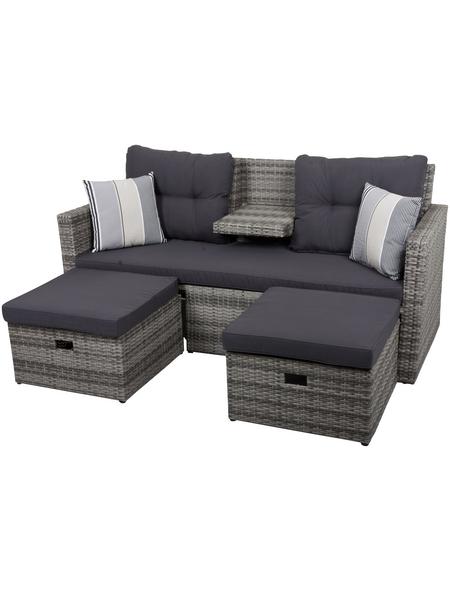 GARDEN PLEASURE Loungesofa, 2 Sitzplätze