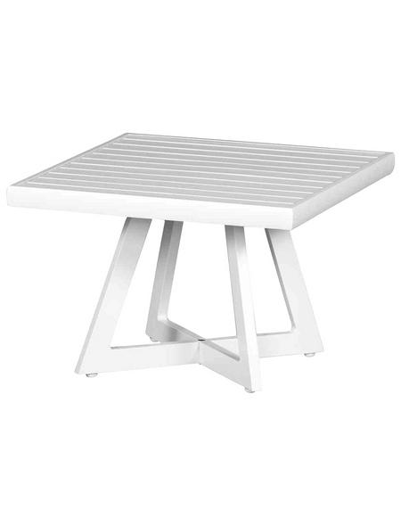 SIENA GARDEN Loungetisch »Alexis«, mit Aluminium-Tischplatte, BxTxH: 50 x 50 x 35 cm
