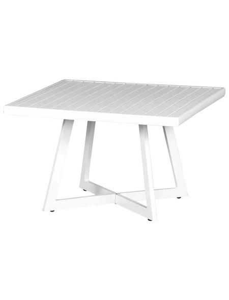 SIENA GARDEN Loungetisch »Alexis«, mit Aluminium-Tischplatte, BxTxH: 70 x 55 x 55 cm