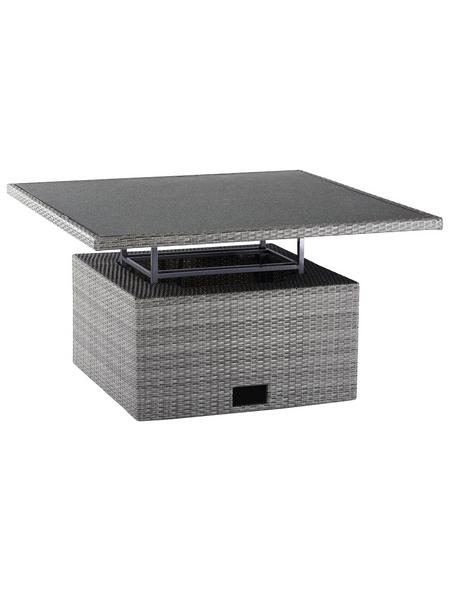 BEST Loungetisch »Bonaire«, mit Glas-Tischplatte, BxTxH: 120 x 120 x 66 cm