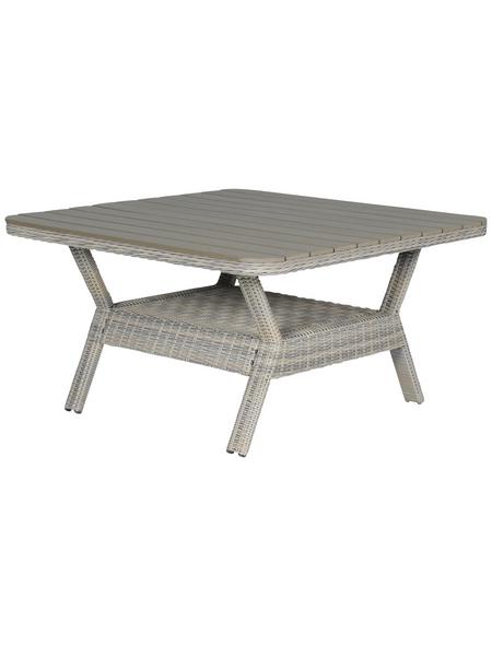 GARDEN IMPRESSIONS Loungetisch »Milwaukee«, mit Kunststoff-Tischplatte, B x L x H: 126,5 x 126,5 x 70 cm