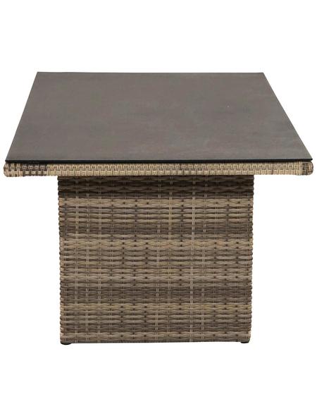 ploß® Loungetisch »Rabida«, mit Spraystone-Tischplatte, BxLxH: 85x140x68 cm