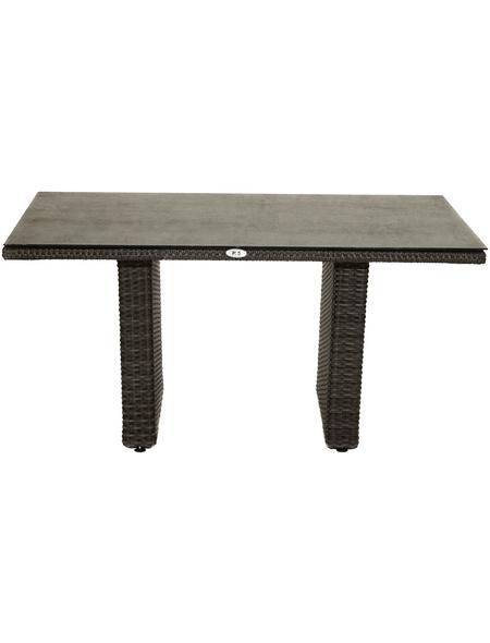 ploß® Loungetisch »Rocking«, mit Glas-Tischplatte, BxLxH: 85x140x68 cm