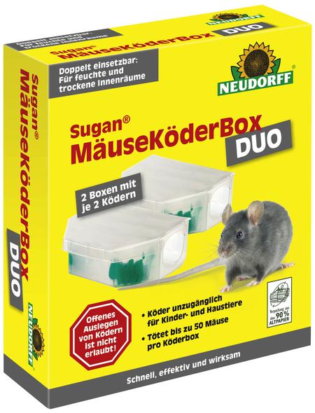 NEUDORFF Mäusebox mit Köder »Sugan«, Paste in Köderbox, 2 Stück