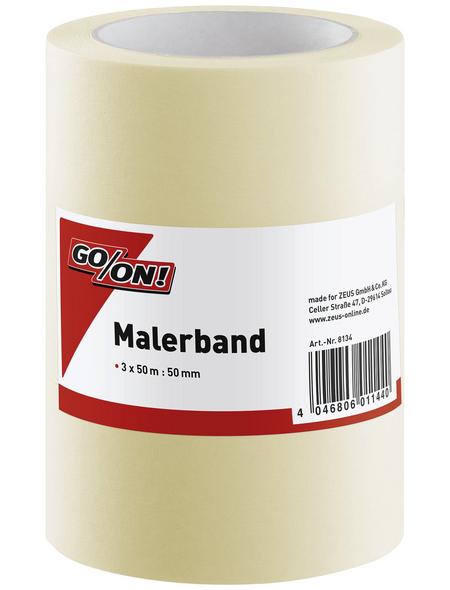 GO/ON! Malerband, 50 m x 50 mm, 3 Stk., Beige