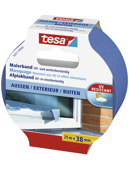 TESA Malerband, blau, Breite: 3,8 cm, Länge: 25 m