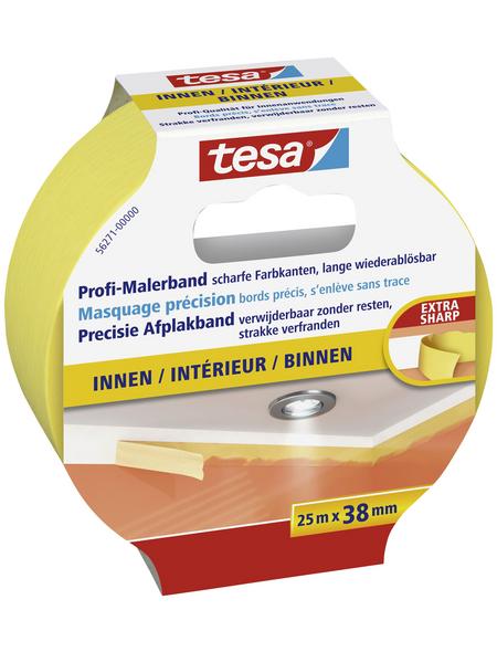 TESA Malerband, gelb, Breite: 3,8 cm, Länge: 25 m