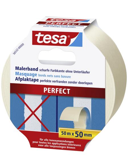 TESA Malerband, PERFECT, 50 m x 50 mm, Beige