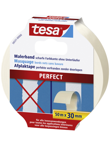 TESA Malerband »PERFECT«, beige, BxL: 30 x 50 cm