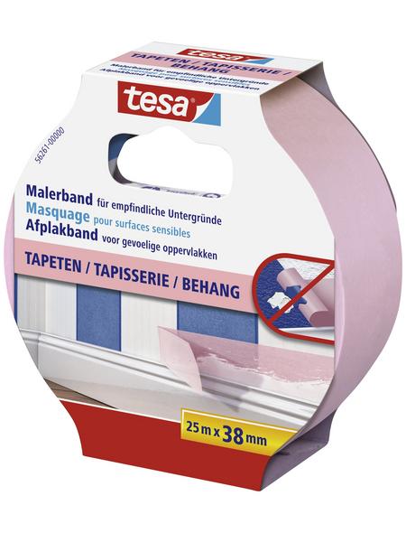 TESA Malerband, rosa, Breite: 3,8 cm, Länge: 25 m