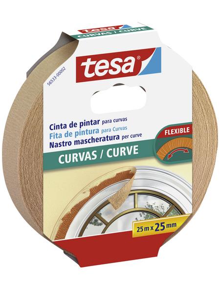 TESA Malerband, transparent, Breite: 2,5 cm, Länge: 25 m