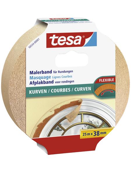 TESA Malerband, transparent, Breite: 3,8 cm, Länge: 25 m