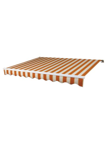 SPETTMANN Markise »BASIS«, BxT: 350x250 cm, weiss/orange gestreift