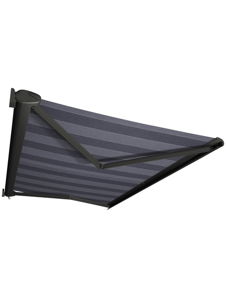 SPETTMANN Markise »PERFORM«, BxT: 350x250 cm, grau/blau gestreift