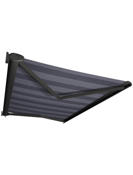 SPETTMANN Markise »PERFORM«, BxT: 400x200 cm, grau/blau gestreift
