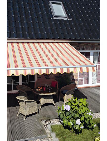 SPETTMANN Markise »Star Klassik«, BxT: 250x200 cm, weiss/rot/gelb/orange/creme gestreift