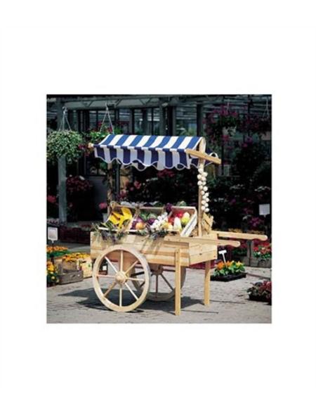 PROMADINO Marktwagen, B x L x H: 173 x 82 x 184 cm, kiefernholz/baumwolle, natur