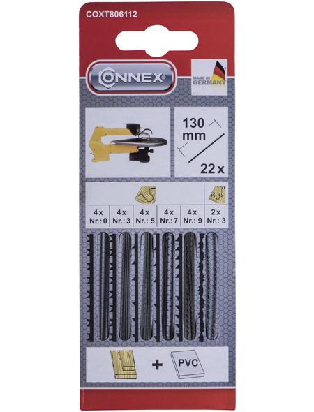 CONNEX Maschinenlaubsägeblätter, 170 mm , 22 Laubsägeblätter