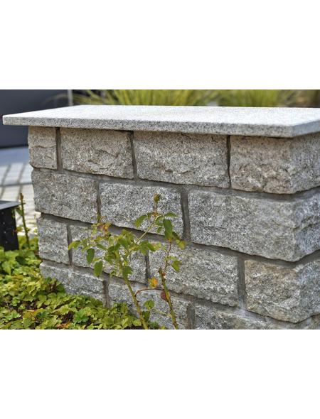 EURO STONE Mauerstein-Abdeckplatte, BxLxH: 100 x 3 x 30 cm, aus Granit, geflammt