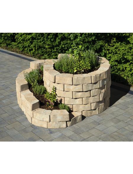 MR. GARDENER Mauerstein »Kräuterspirale«, BxHxL: 160 x 140 x 60 cm, strukturiert, Beton