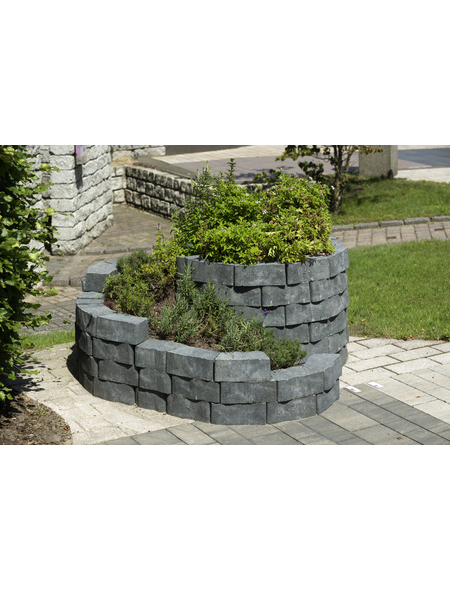 MR. GARDENER Mauerstein »Kräuterspirale«, BxHxL: 160 x 60 x 140 cm, strukturiert, Beton
