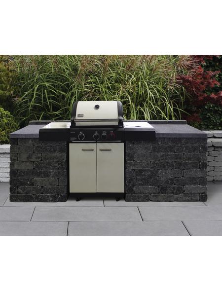 Mauerstein »Outdoorküche Universal« 70 x 70 x 85cm, aus Beton, glatt