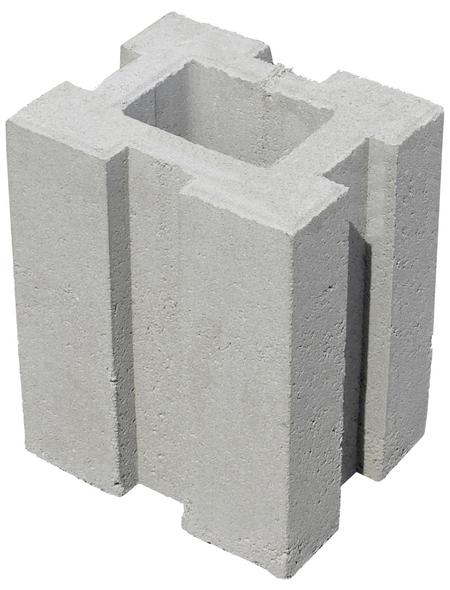 MR. GARDENER Mauerstein »Pfostenfundamentstein«, BxHxL: 34 x 21,5 x 26,5 cm, Beton