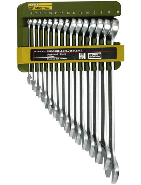 PROXXON Maulschlüsselsatz »Slim Line« 15-teilig, Schlüsselgröße: 6 bis 21 mm