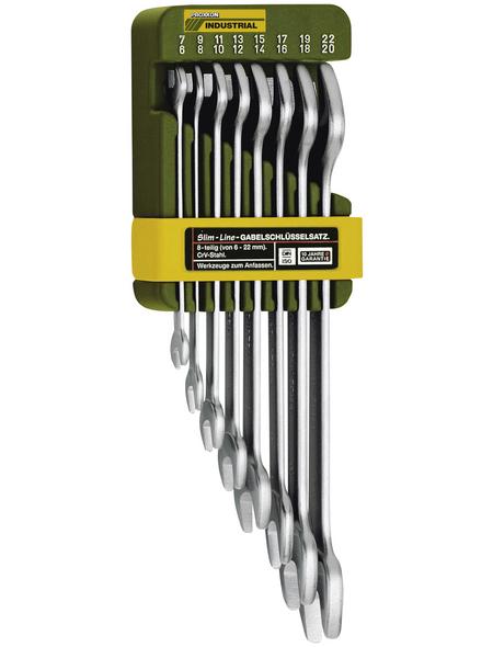 PROXXON Maulschlüsselsatz »Slim Line« 8-teilig, Schlüsselgröße: 6 - 22 mm