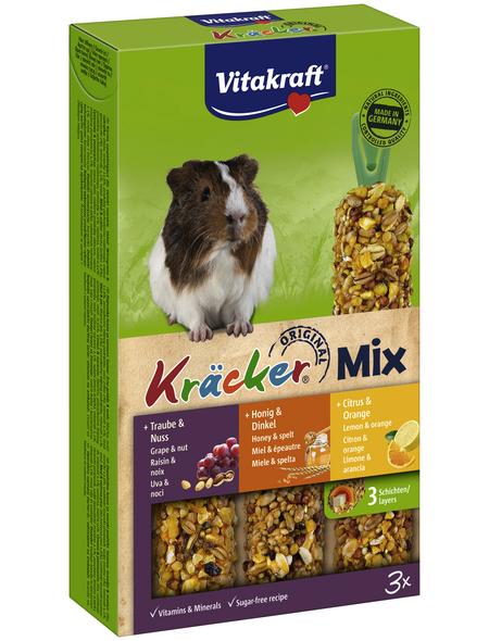 VITAKRAFT Meerschweinchen-Snack »Kräcker® Original«, 168 g (3 Kräcker), Nuss/Honig/Zitrone/Trauben