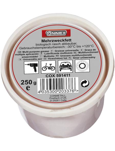 CONNEX Mehrzweckfett, 0,25 kg, für Gleitflächen, mechanische Gelenke, Zweitaktmotoren