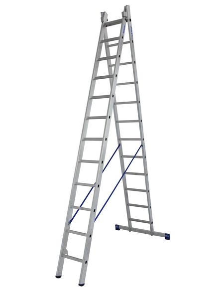 KRAUSE Mehrzweckleiter »STABILO«, Anzahl Sprossen: 24, Aluminium