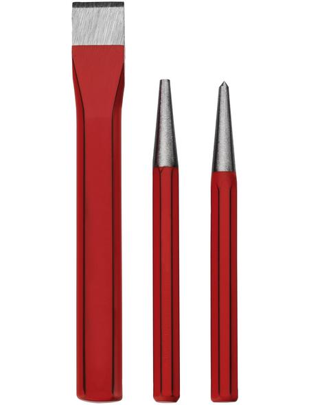 CONNEX Meißel-/Körner-/Durchschläger-Satz, Chrom-Vanadium-Stahl, 3-tlg.