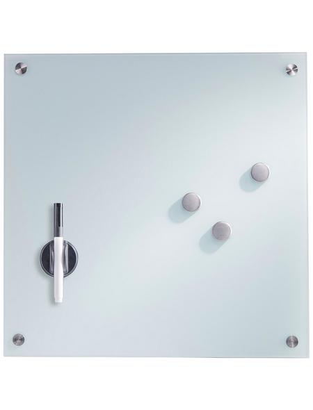ZELLER Memoboard, 3 Magnete, 1 Stift, 40x40 cm