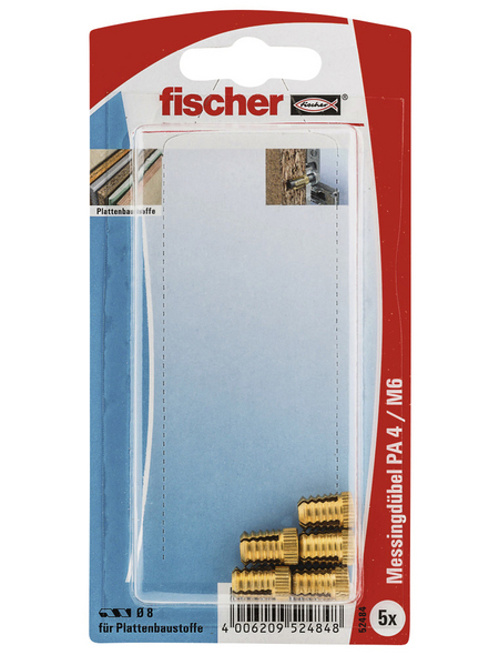 FISCHER Messingdübel, 5 Stück, 8 mm