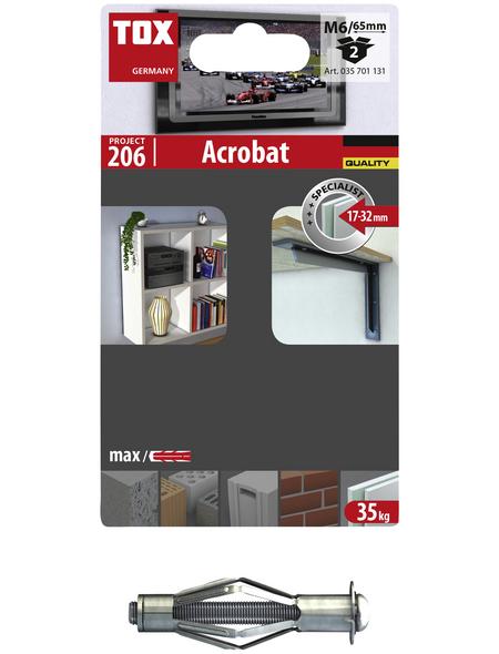 TOX Metall - Hohlraumdübel, Stahl | verzinkt, 2 Stück, 12 x 65 mm