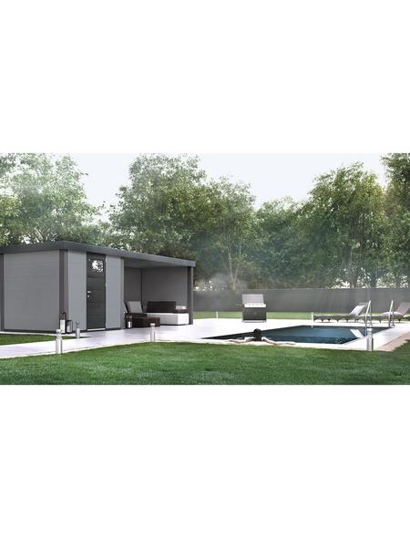WOLFF FINNHAUS Metallgerätehaus »Eleganto 2424«, 15 m³, BxT: 522 x 238 cm mit Lounge