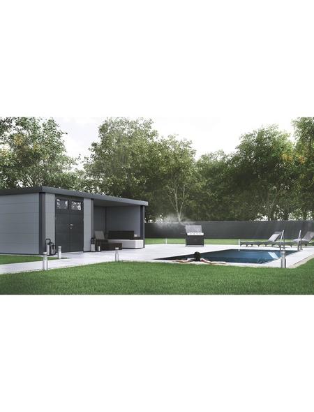 WOLFF FINNHAUS Metallgerätehaus »Eleganto 3024«, 15 m³, BxT: 582 x 238 cm mit Lounge
