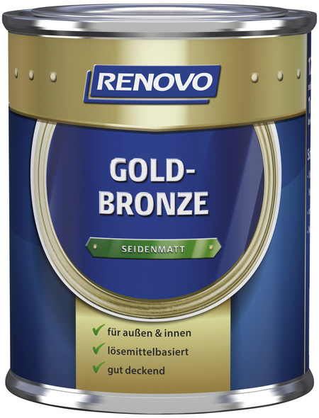 RENOVO Metallglanzfarbe, goldbronzefarben , seidenmatt