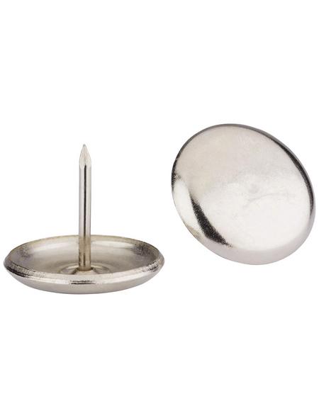 HETTICH Metallgleiter, rund, mit Nagel, silberfarben, Ø 23 x 23 mm