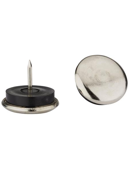 HETTICH Metallgleiter, rund, mit Nagel, silberfarben, Ø 28 x 26 mm