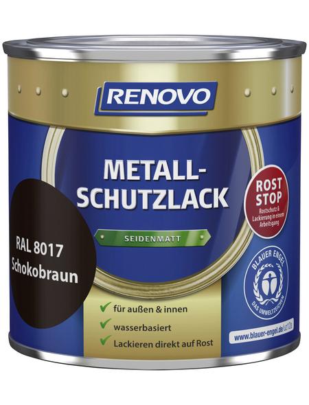 RENOVO Metallschutzlack Schokobraun, seidenmatt
